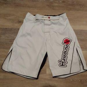 Hayabusa White MMA Fight Gear Shorts